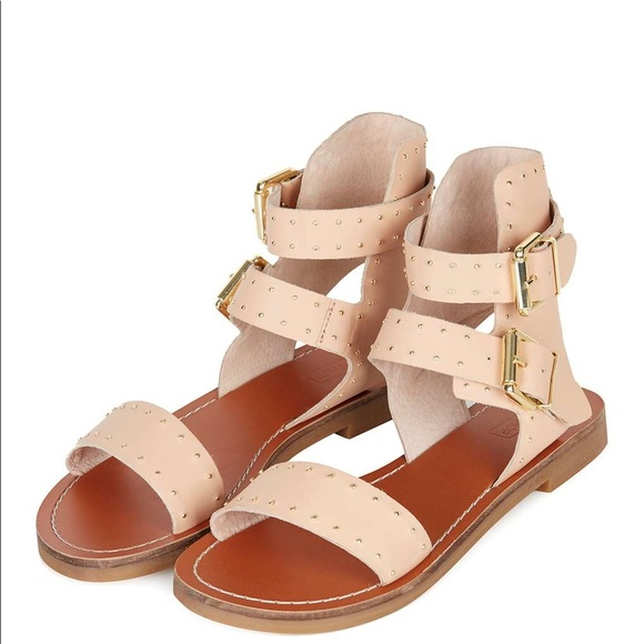 new appearance 100% authentic save off Topshop Nude Studded Sandals